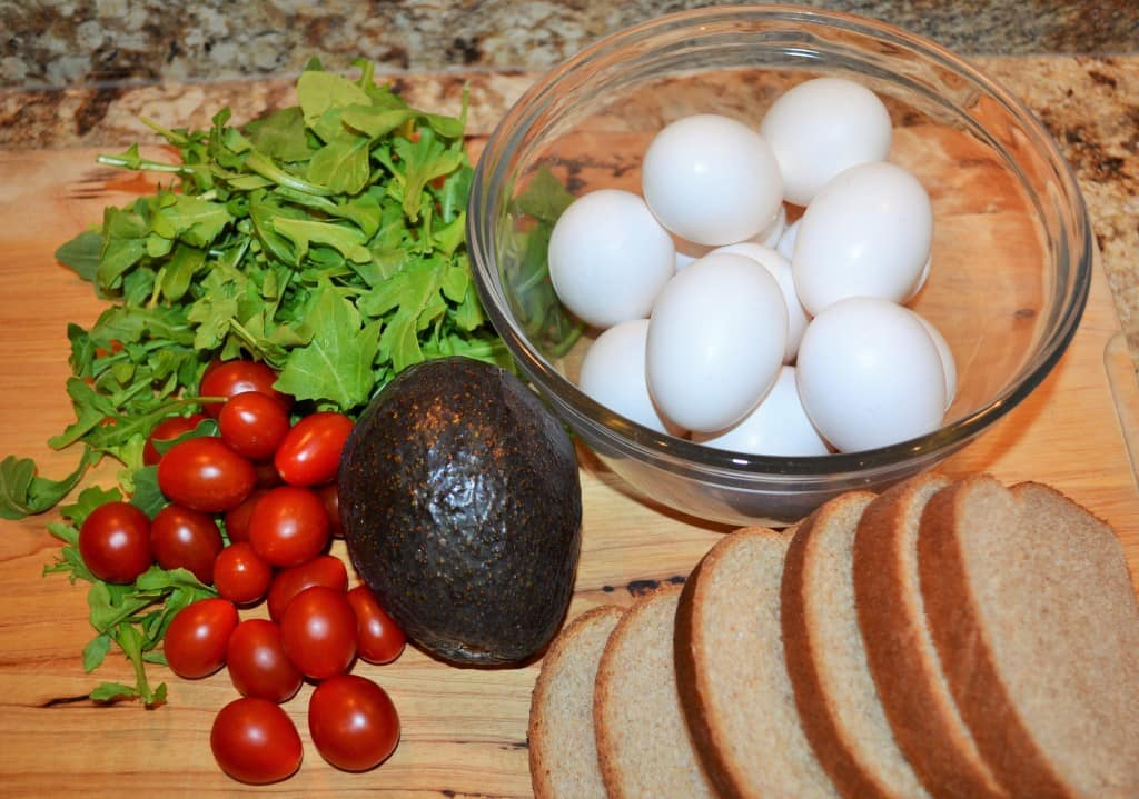 Fresh ingredients for a perfect Egg Salad Sandwich