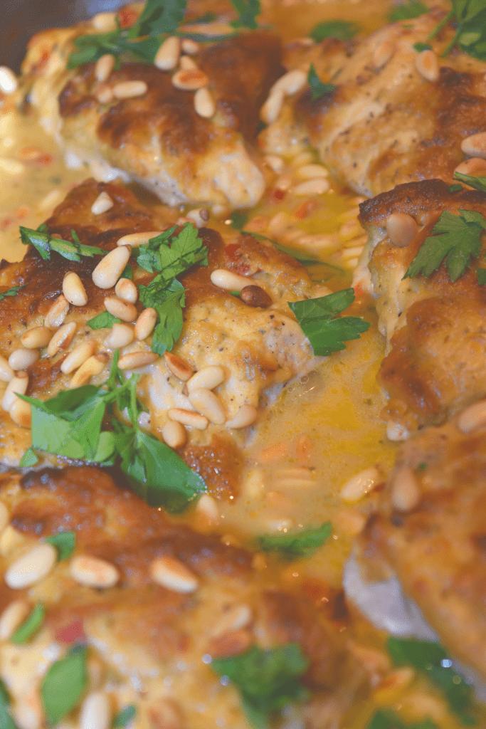 Hummus makes an awesome sauce.