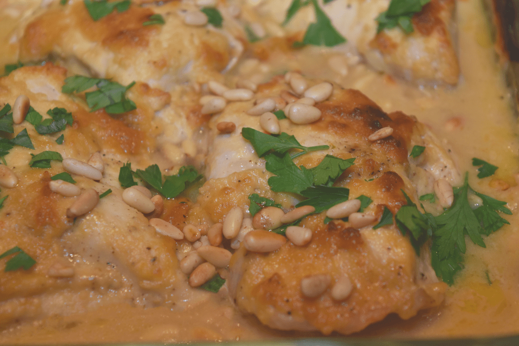 Easy hummus chicken