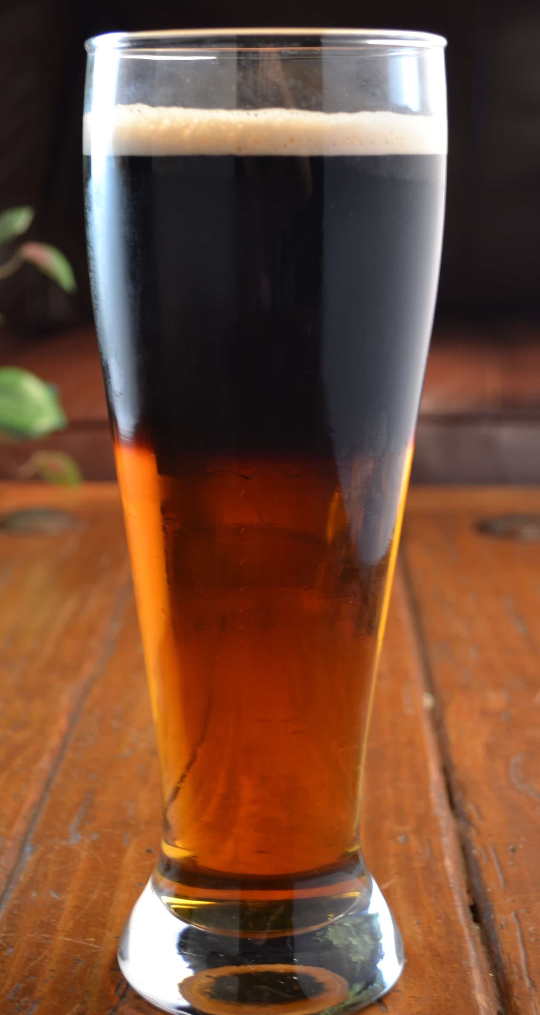 A Beautiful Black and Tan Beer - The Spicy Apron