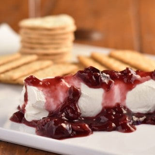 Goat Cheese Appetizer with Bing Cherry Wine Reduction