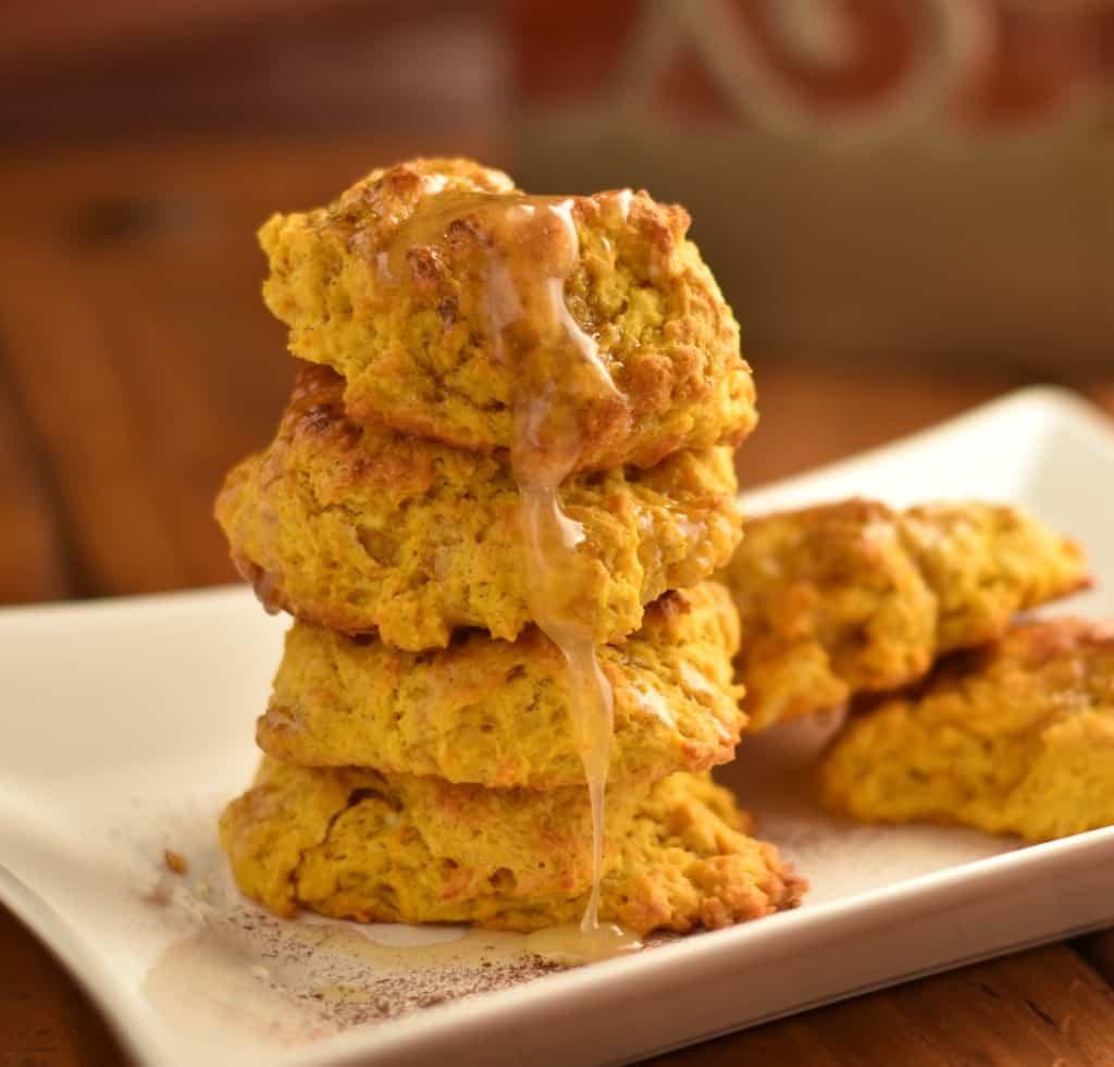 Pumpkin honey butter biscuits