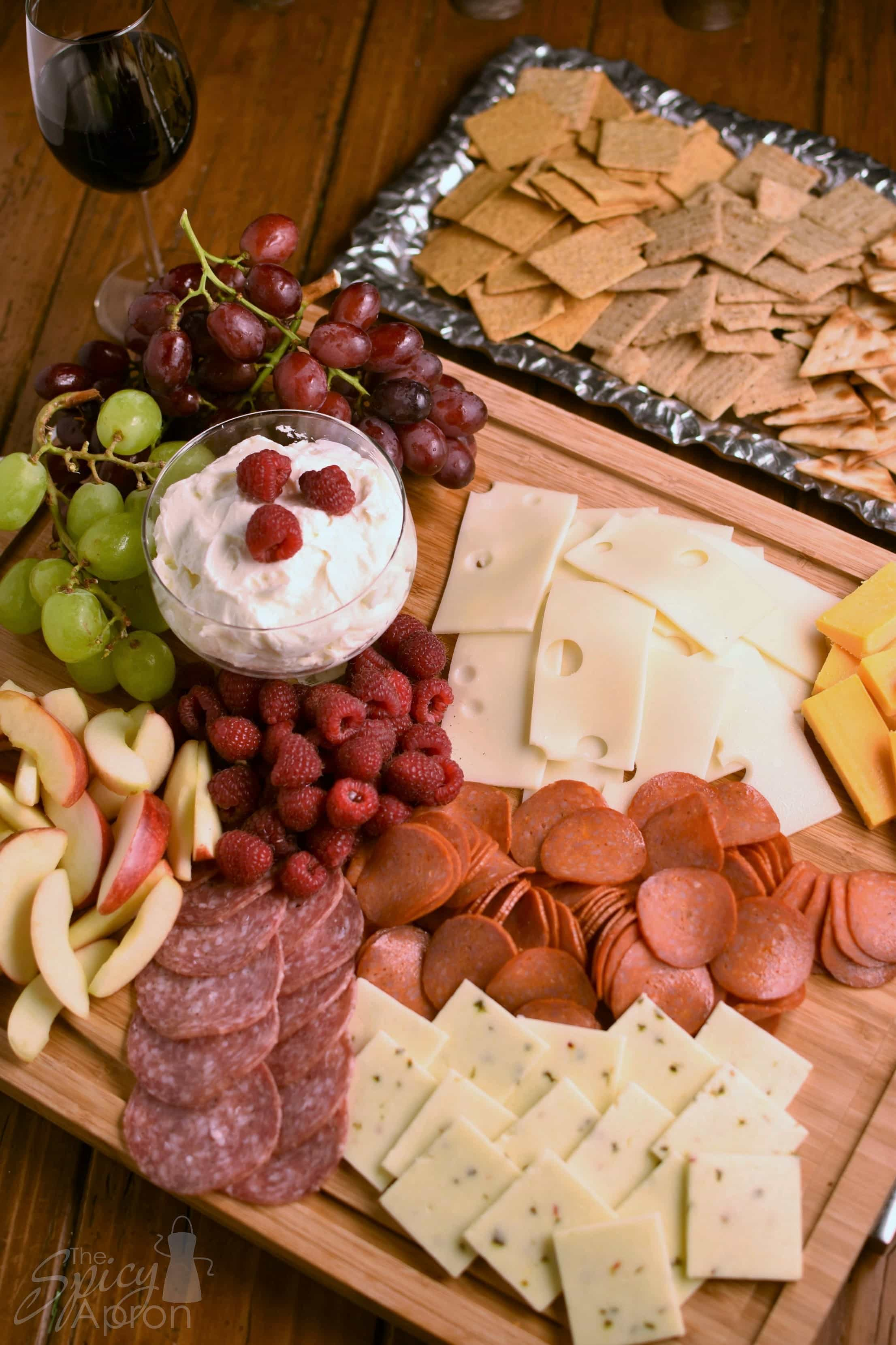 Meat and Cheese Platter & Meat and Cheese Platter with Fruit (and dip) - The Spicy Apron