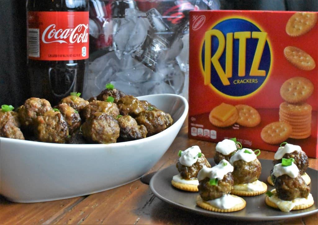 Cocktail Meatballs Coke RITZ hero shot
