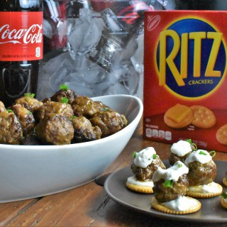 Cocktail Meatballs with Buffalo Sauce & Blue Cheese