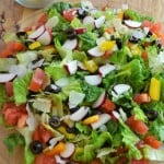 Green Salad Overhead Pic