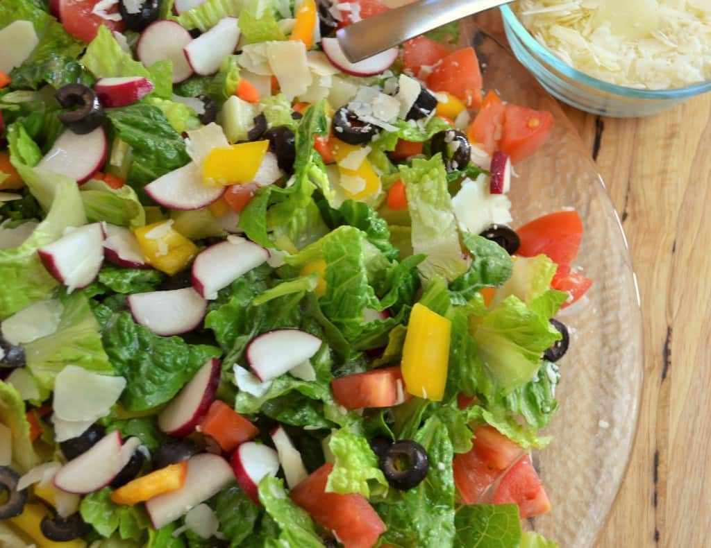 Green Salad With Parmesean