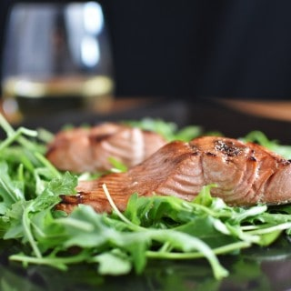 Broiled Salmon and Beautiful Alaska