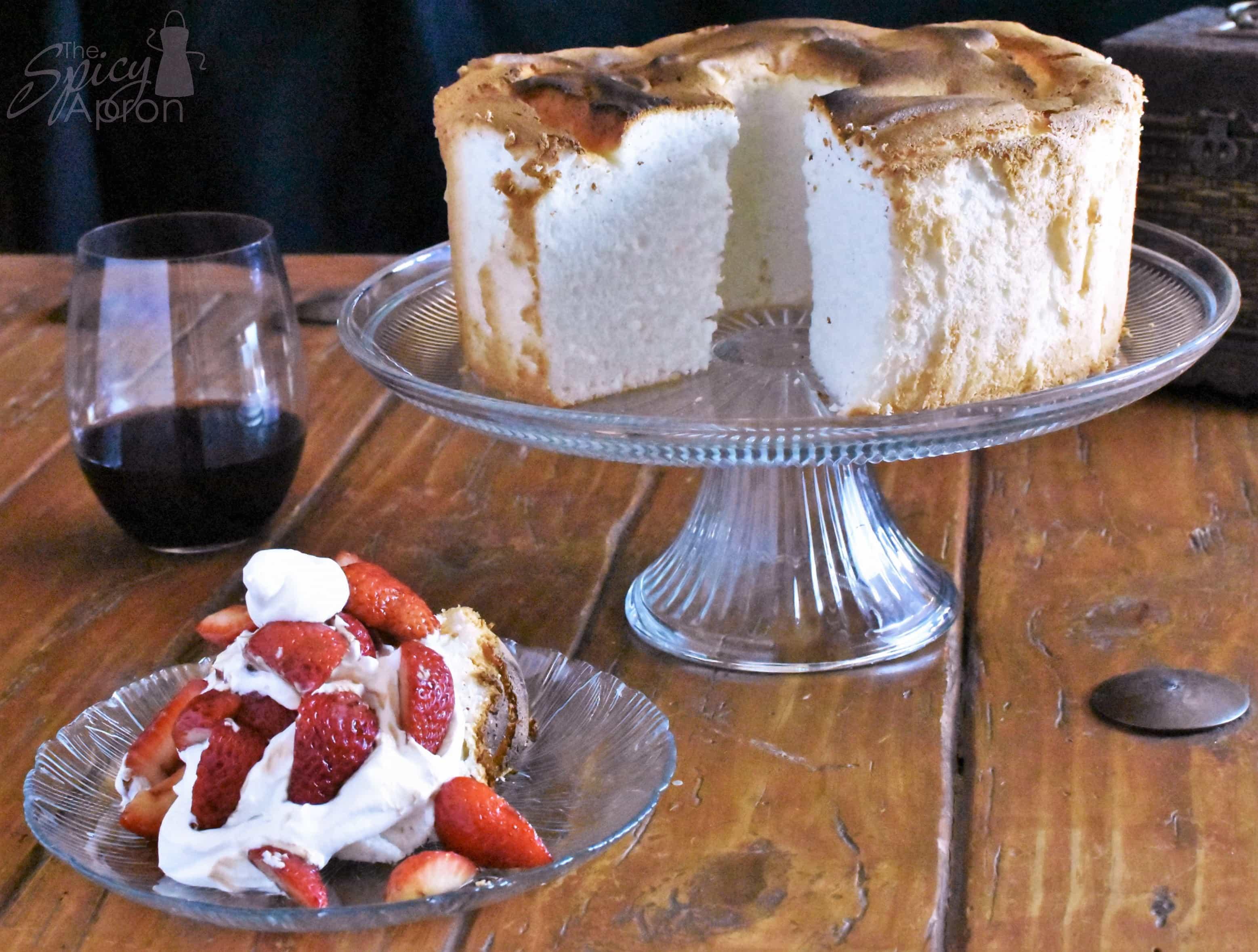 Angel Food Cake Full Cake Horizontal with watermark