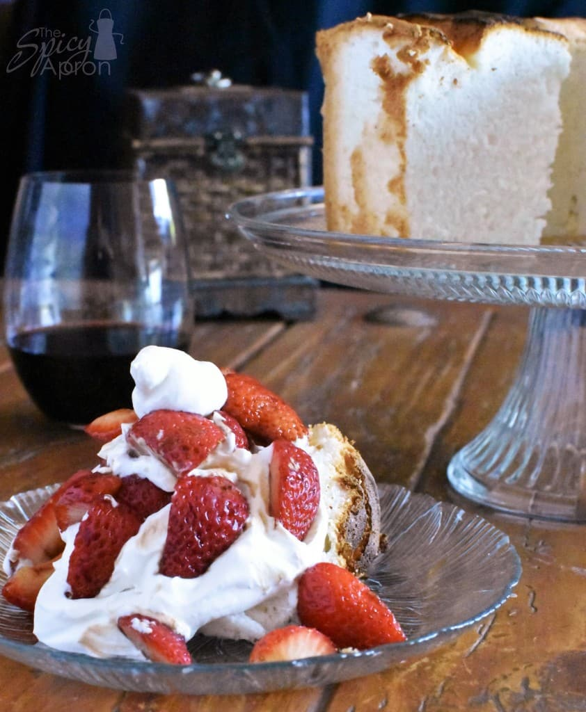 Angel Food Cake Square with watermark