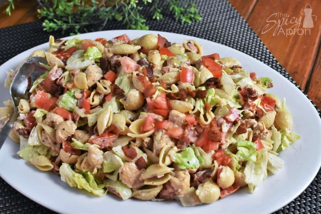 BLT Pasta Salad Front with watermark