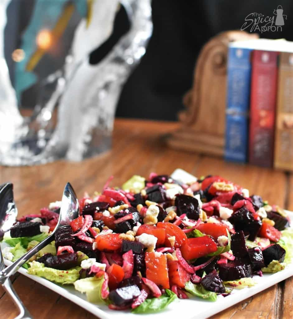 Roasted Beet Salad Far with watermark