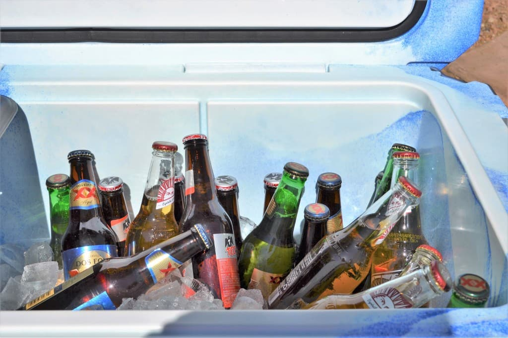 Music Festival drinks Beer in coolers