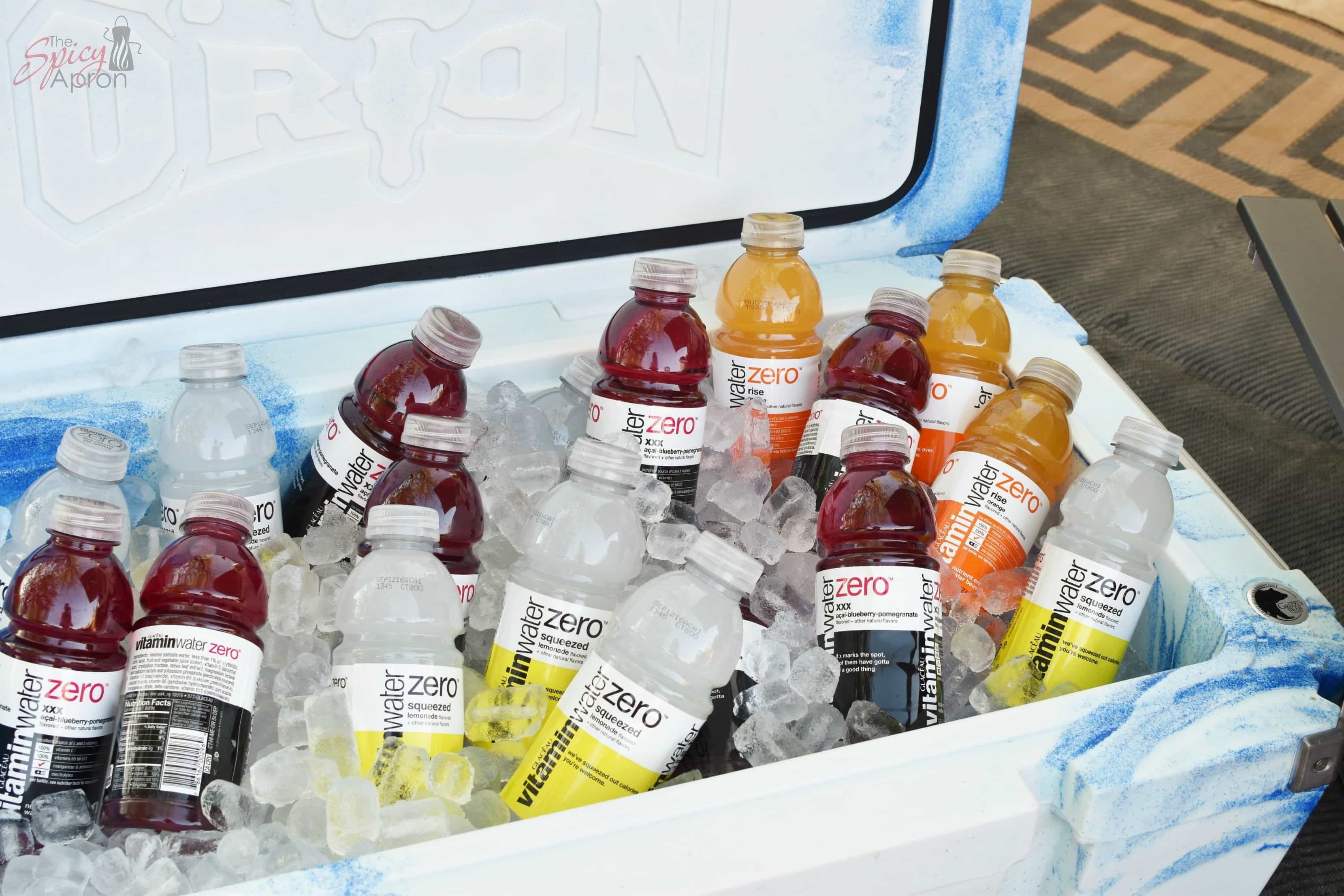 Staying Hydrated Cooler Shot vitaminwaterZero with watermark