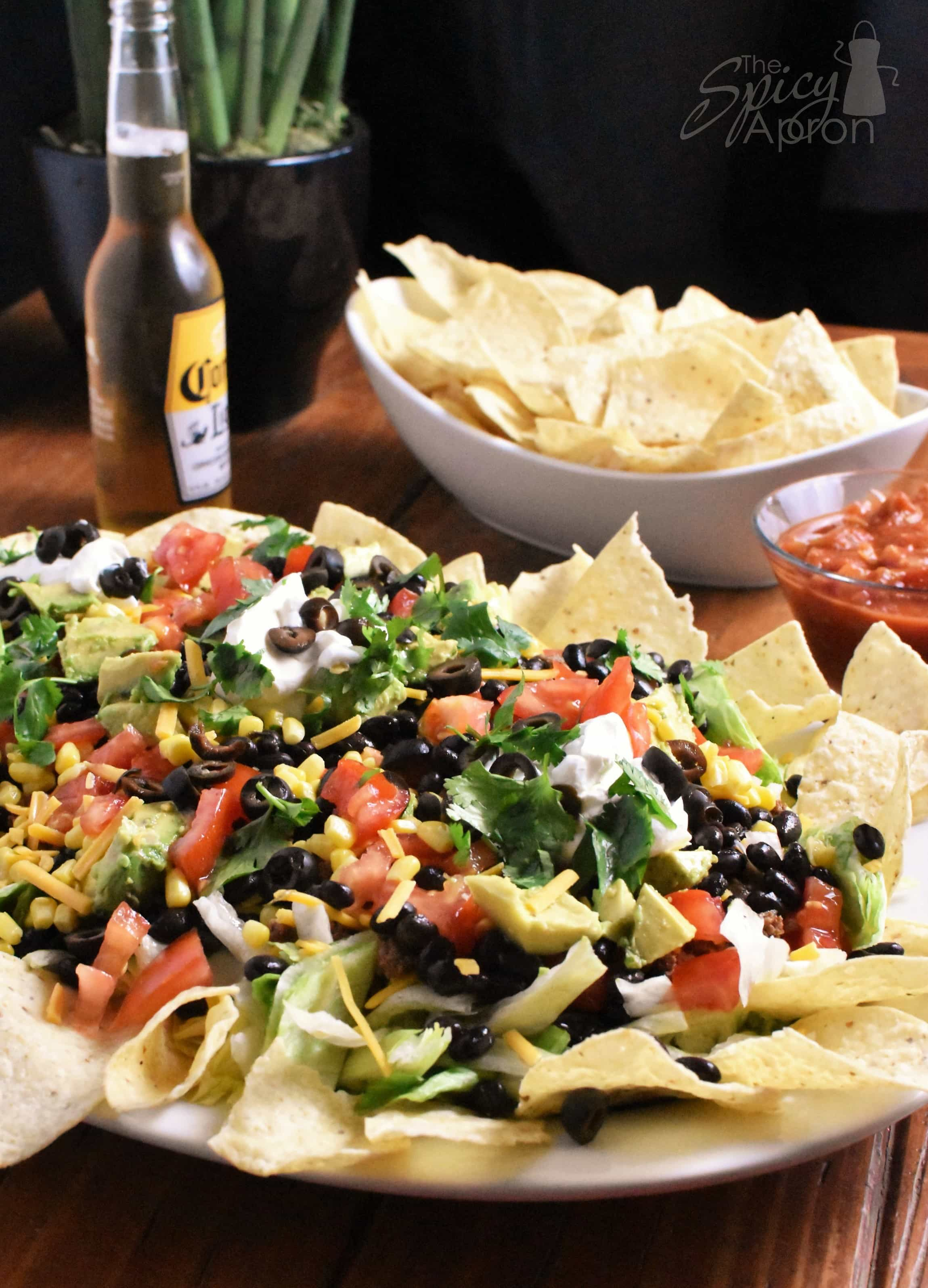 Taco Salad for a Crowd Vertical with watermark