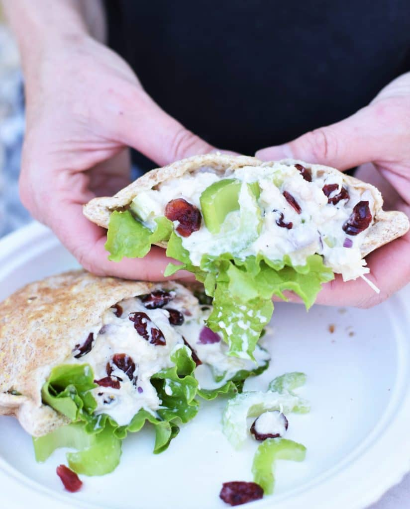Easy Camping Meals - Chicken Salad Close