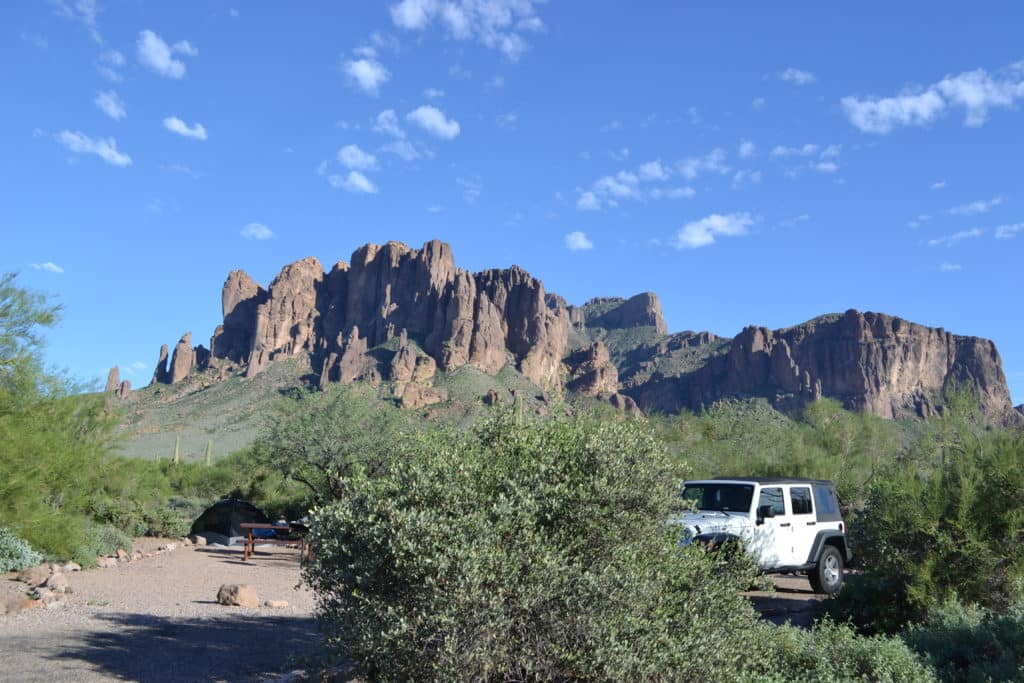 Flatiron Camping with Jeep