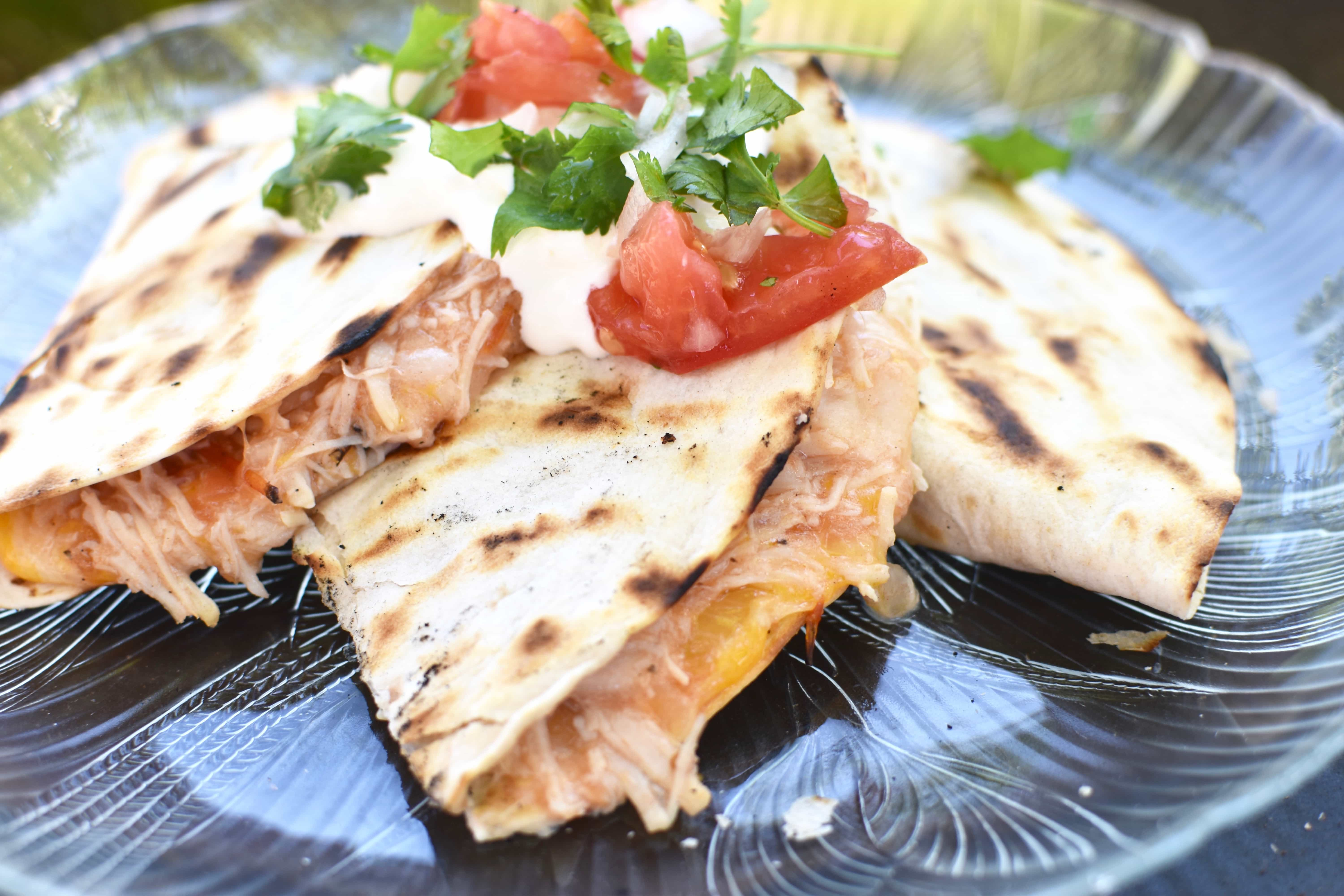 Easy Camping Dinner Chicken Quesadilla The Spicy Apron