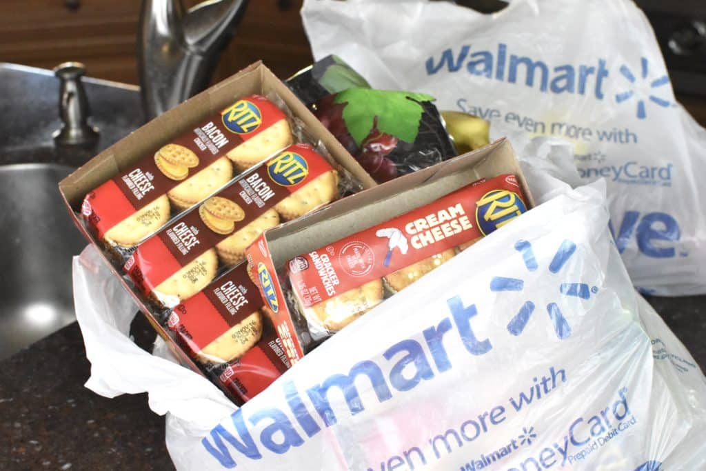 Walmart Grocery Pick up for Camping Snacks