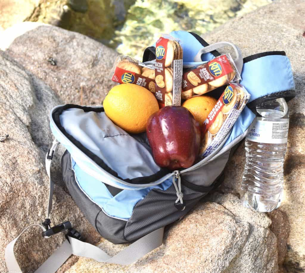 Backpack for camping snacks