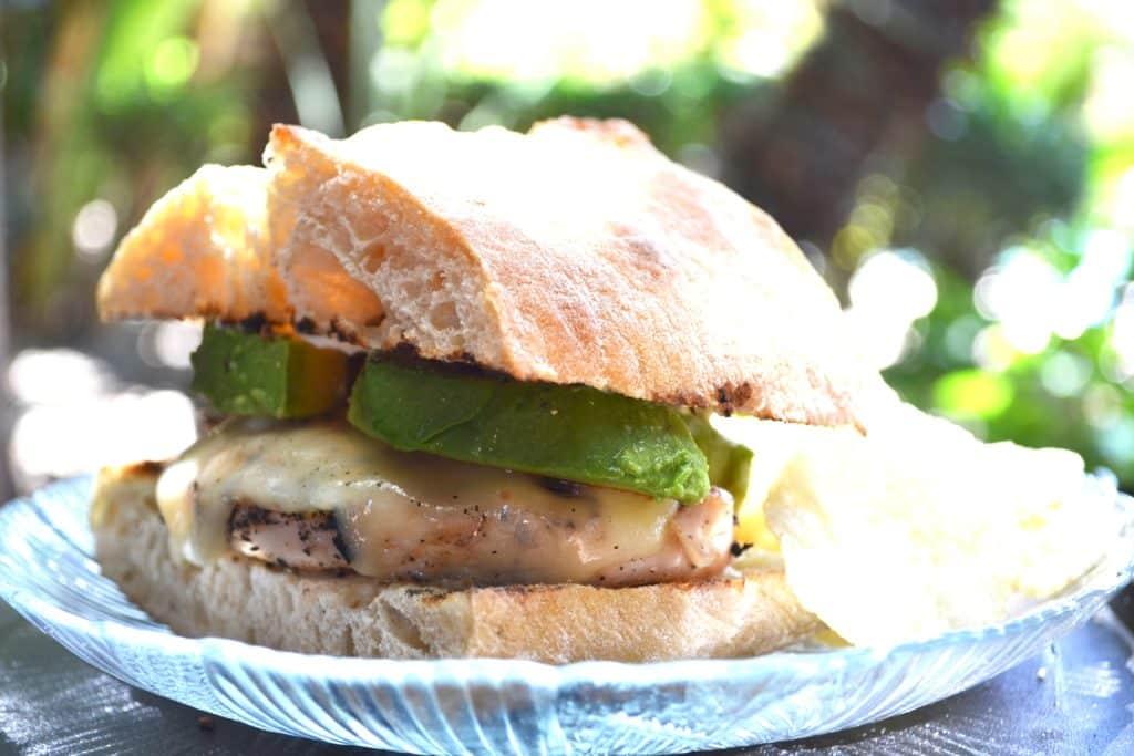 Grilled Chicken Sandwich Recipe Close Up