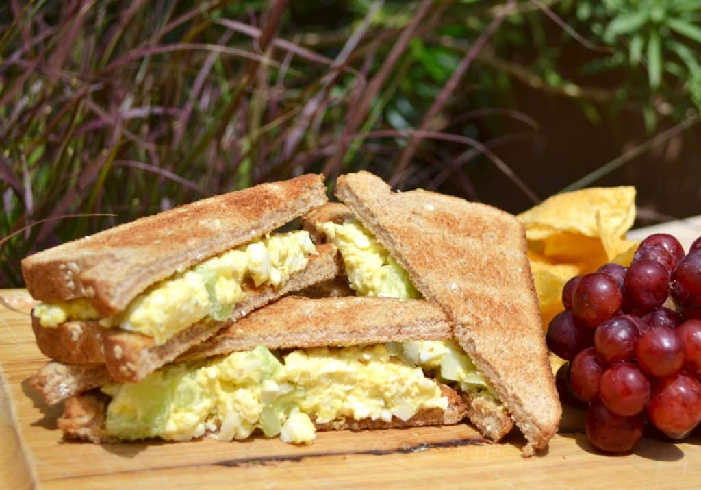 Camping Food Ideas Egg Salad Bright