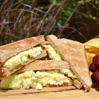 Camping Food Ideas: Egg Salad Sandwich. Delish!