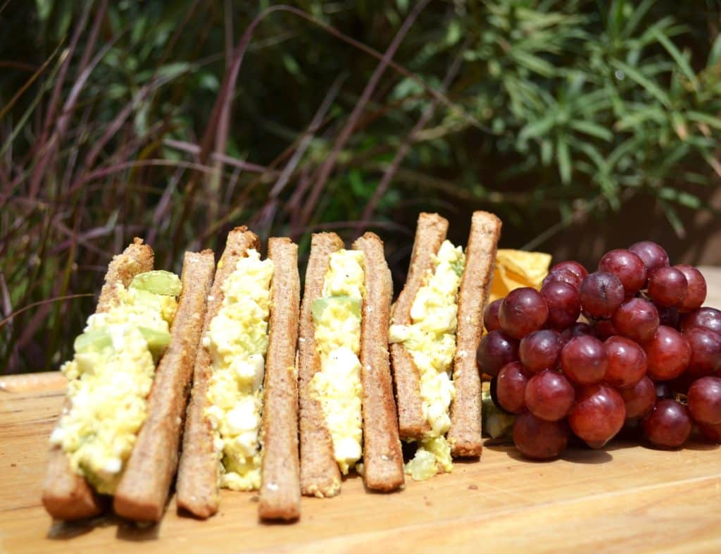 Camping Food Ideas Egg Salad with Grapes