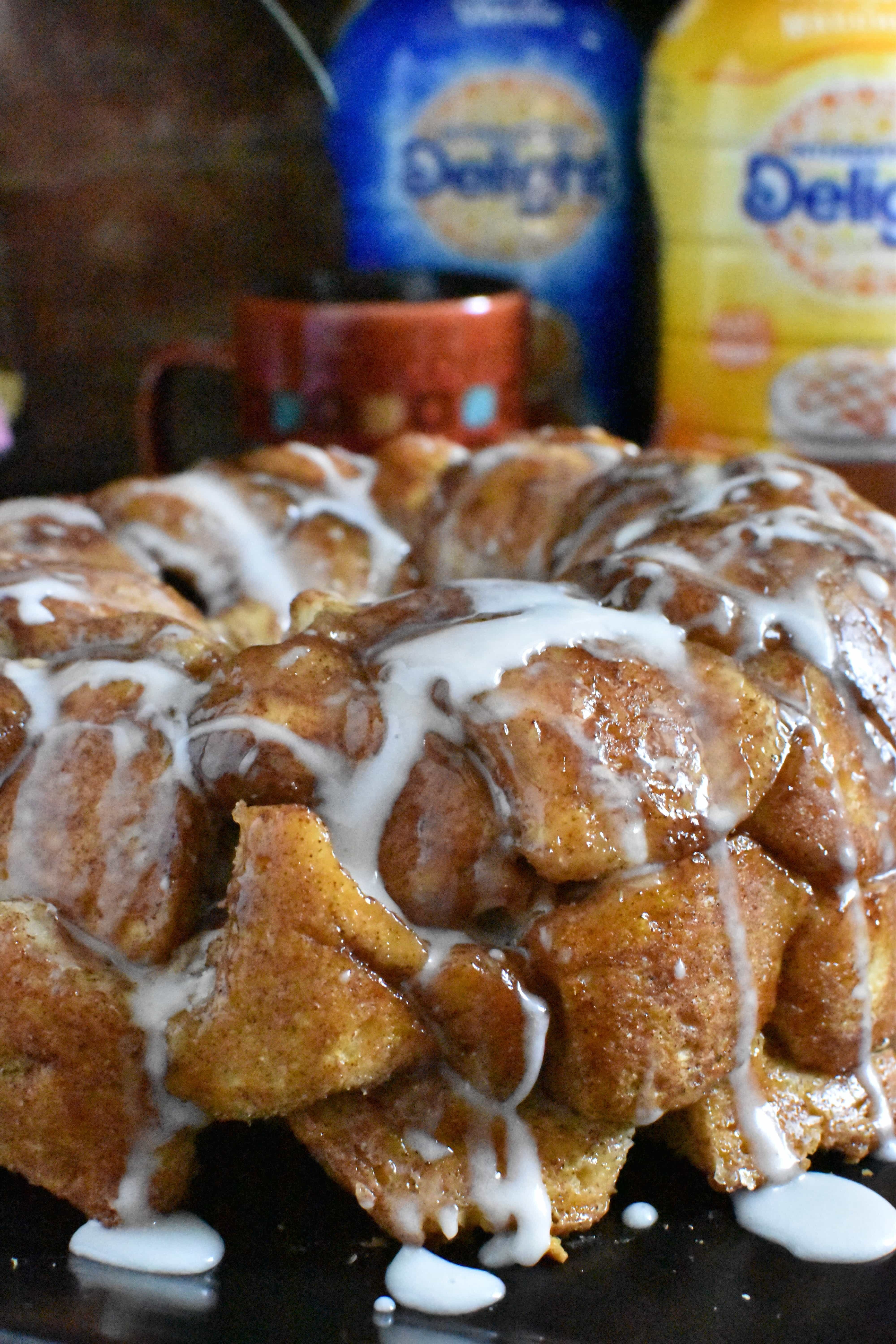 monkey bread with icing