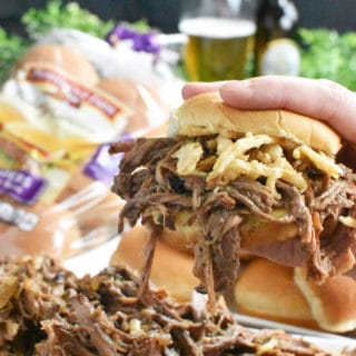 Shredded Beef Sliders – Perfect Game Day Food!