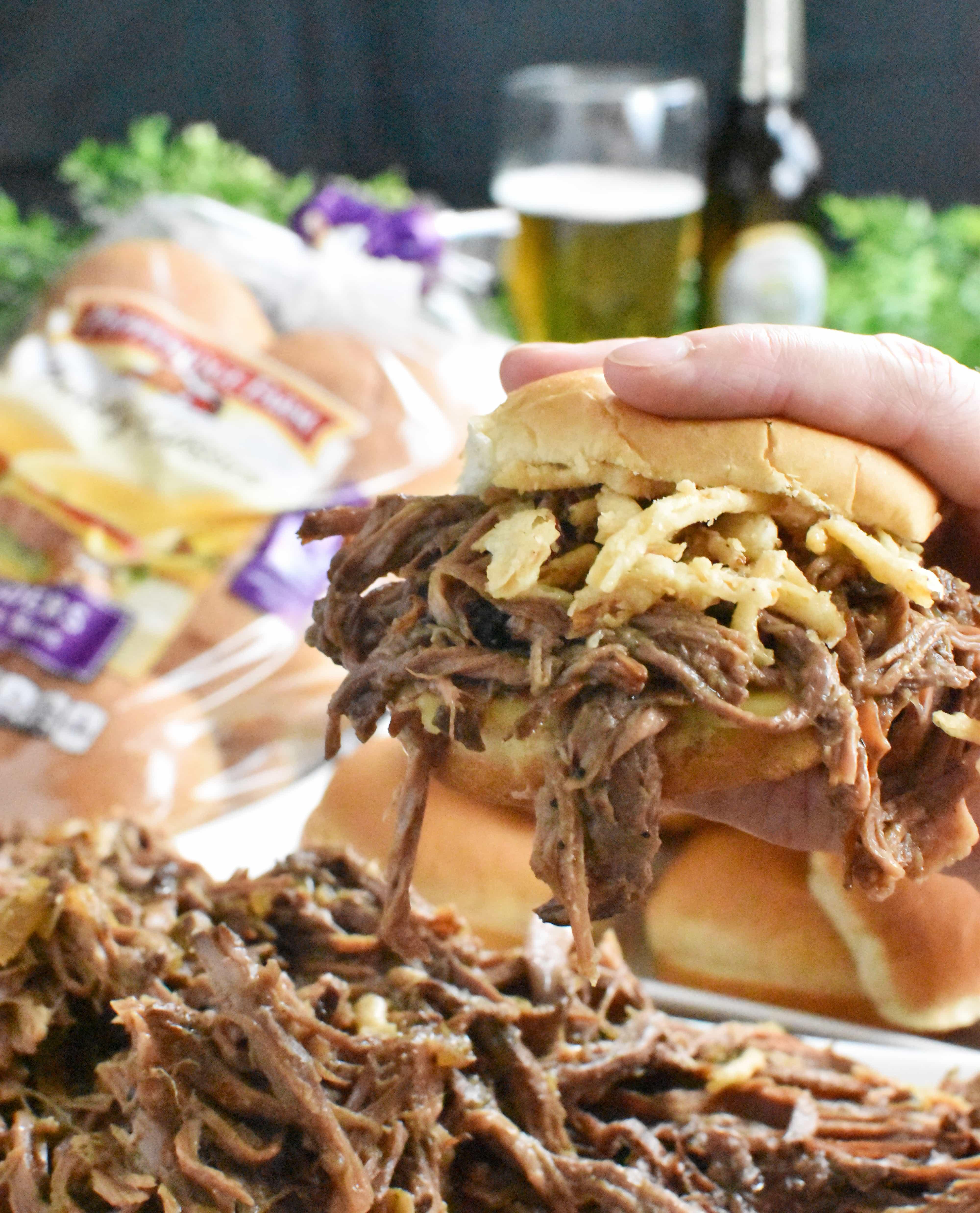 Beef Sliders Sandwich Shot