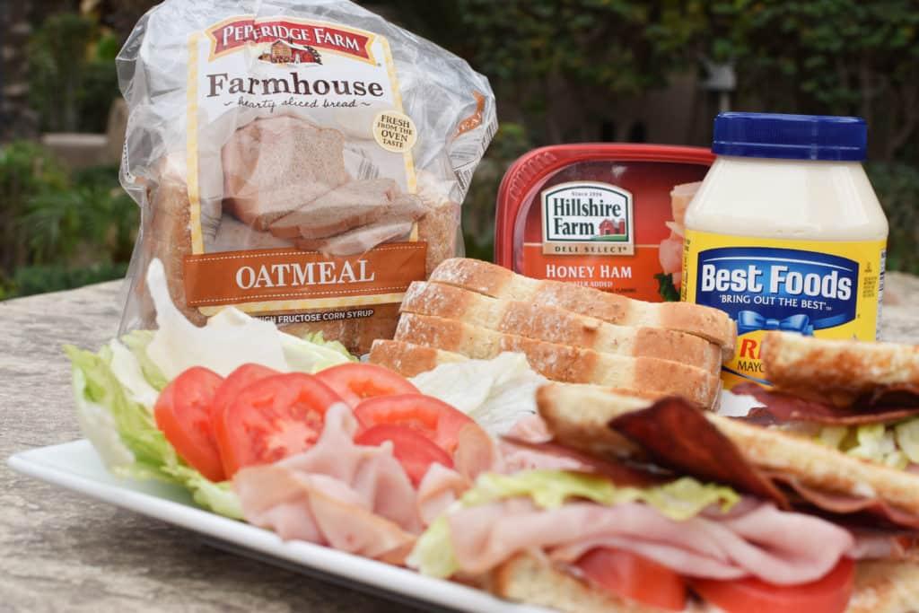 Ham BLT Ingredients Shot