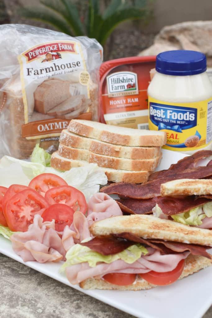 Ham BLT Sandwiches Vertical