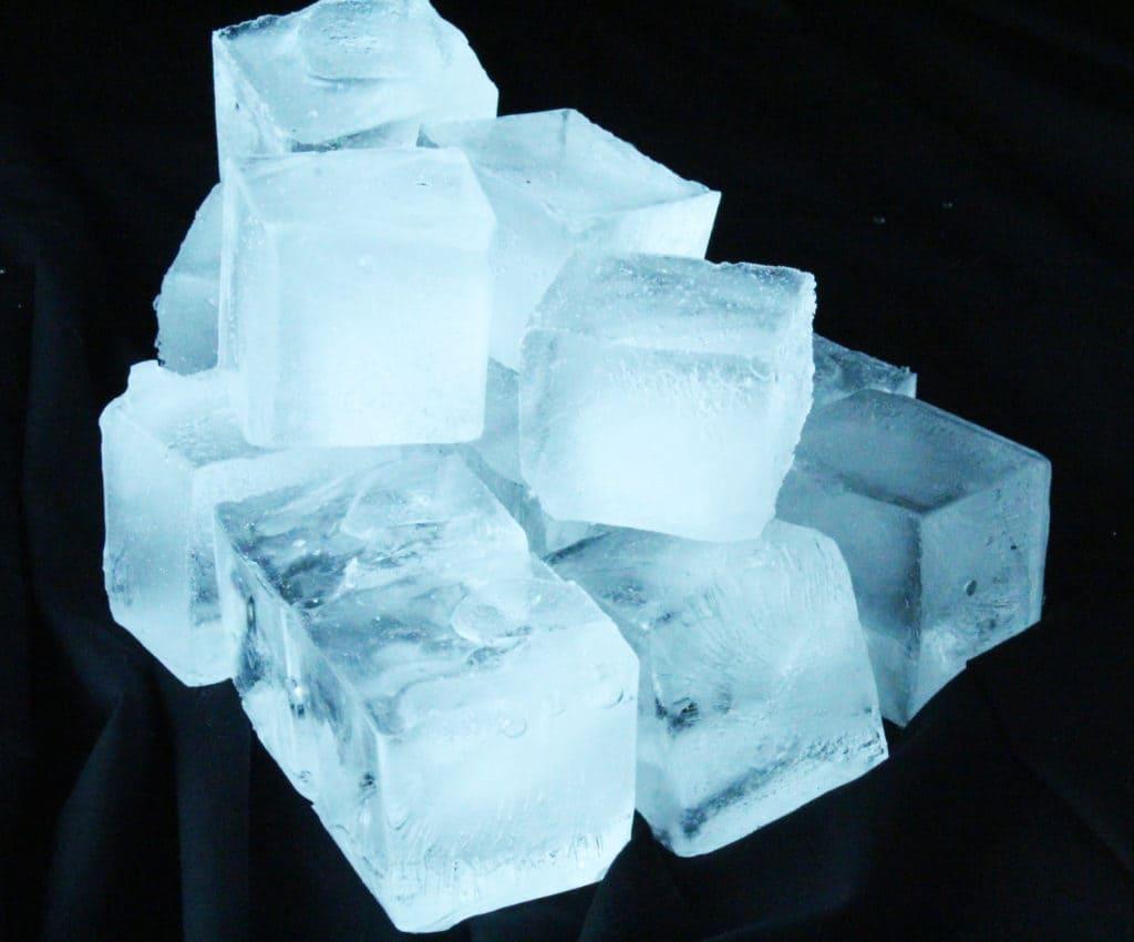 Block Ice Pile
