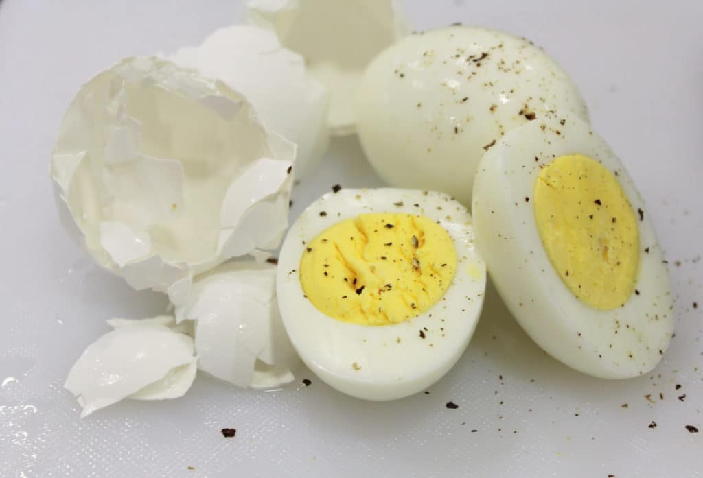Instant Pot Hard Boiled Eggs Close Up