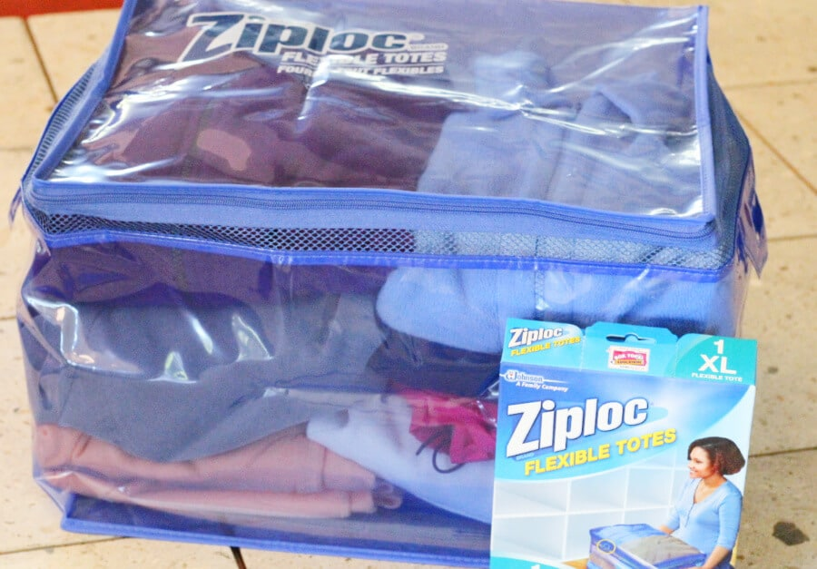 Camping Tips Storage Bin Ziploc