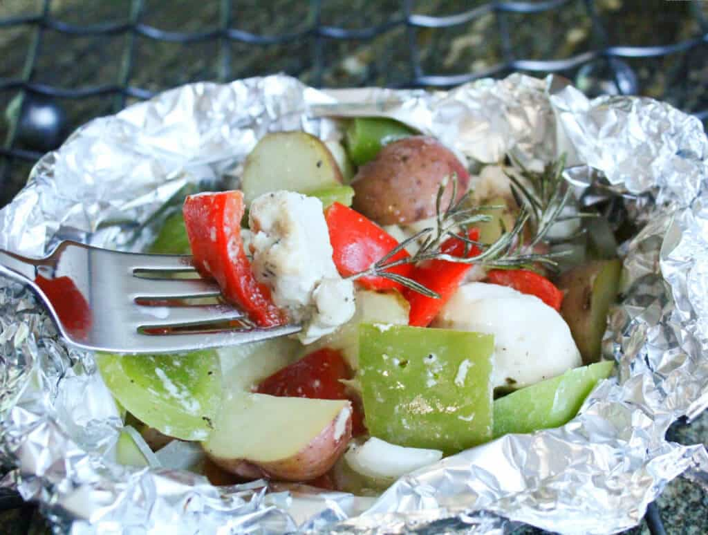 Foil Packet Recipes Finished with Fork