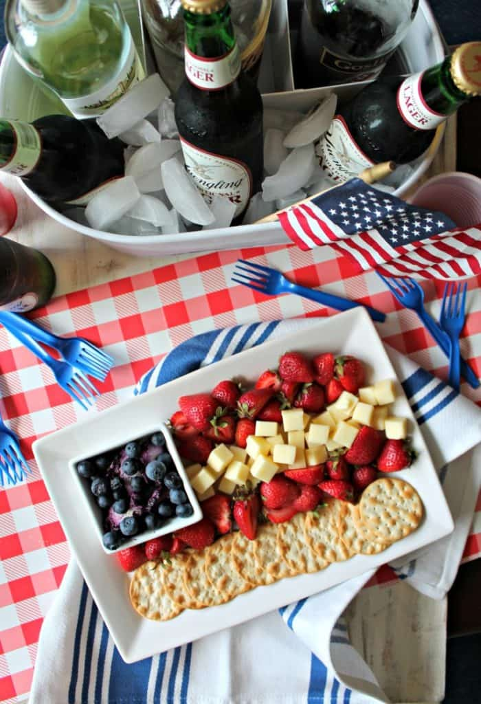 Fourth of July Recipes Cheese Platter