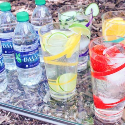 Hydration Dasani on tray e