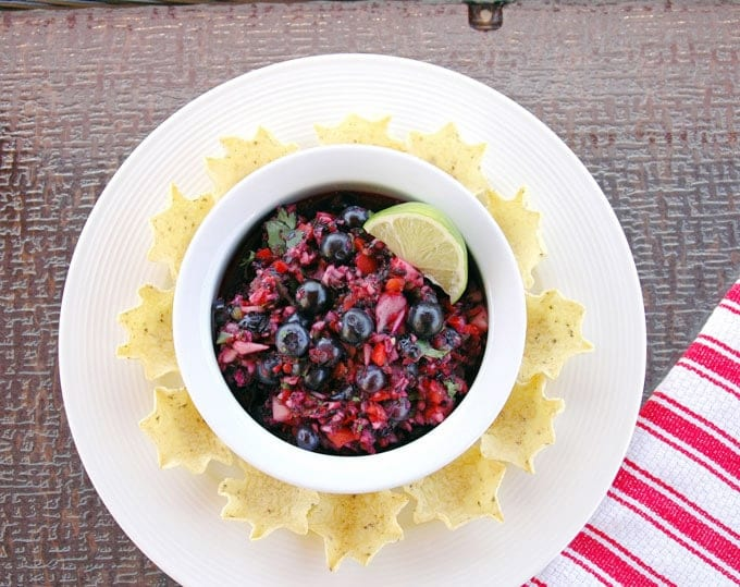 Red-White-and-Blueberry Salsa-