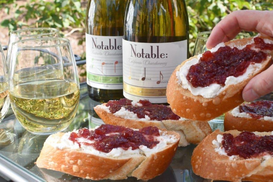 Wine Party Bruschetta in Hand