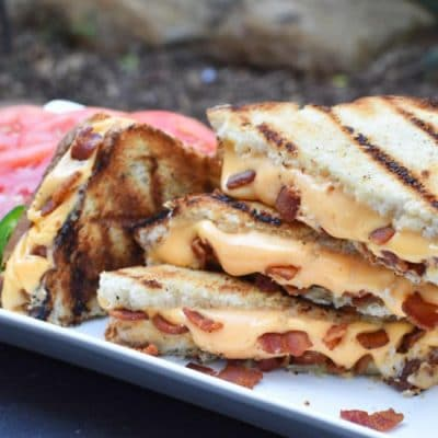 Bacon Grilled Cheese Close Front