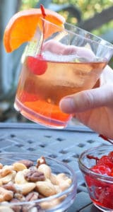 Bourbon Old Fashioned Glass in hand