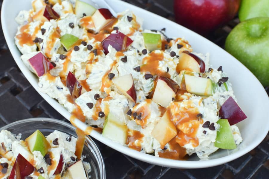Caramel Apple Salad Overhead Horiz