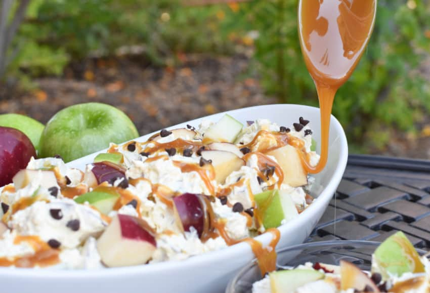 Caramel Apple Salad Spoon