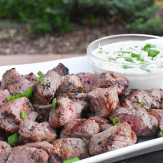 Steak Bites With Creamy Blue Cheese – Camp Food
