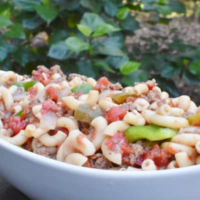 Ground Beef Goulash Recipe Horizontal Close UP