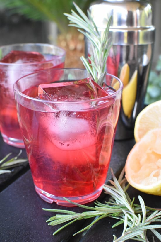 Cranberry Whiskey Sour Vertical