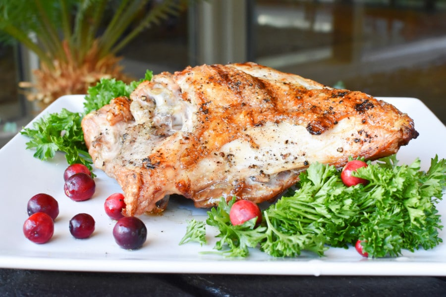 Grilled bone-in Turkey Breast Recipe Horizontal