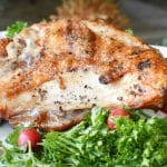 Grilled Turkey Breast Recipe Horizontal Close Up